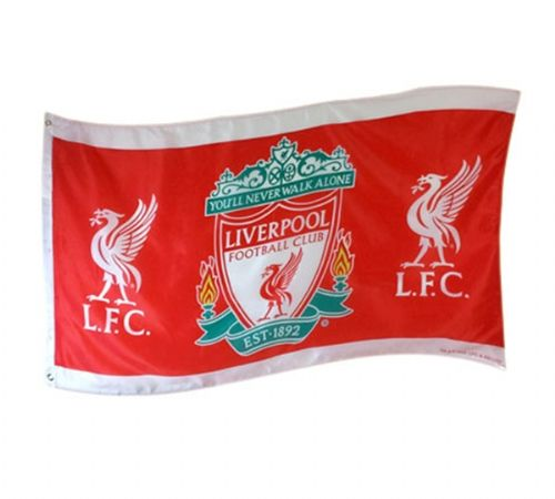 LIVERPOOL FOOTBALL CLUB FLAG LARGE SIZE OFFICIAL 5 X 3